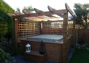 jacuzzi decking